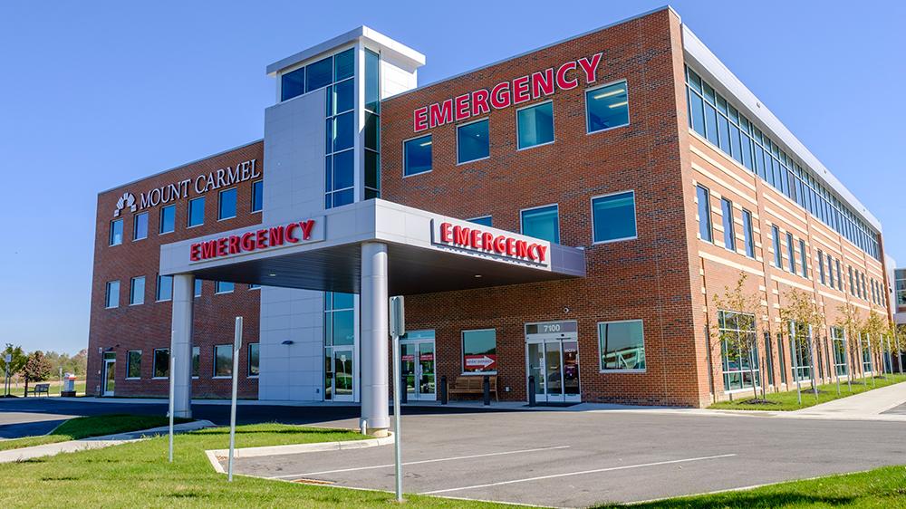 Mount Carmel Health Mount Carmel Lewis Center Emergency Room 7100 Graphics Way Lewis Center Ohio Oh 43035